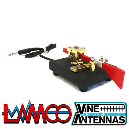 Vine Antenna RST-TP4 | Single Paddle Magnetic Morse Key | LAMCO Barnsley